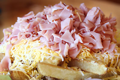 Basket: Ham and Cheese Fries